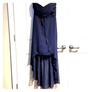David's bridal navy blue strapless dress. Size 8